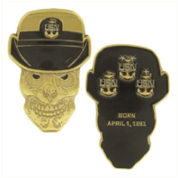 "Vanguard COIN: 2"" NAVY FEMALE CHIEF PETTY OFFICER SKULL"