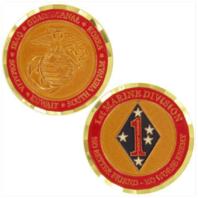 Vanguard MARINE CORPS COIN: FIRST MARINE DIVISION