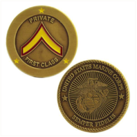 Vanguard MARINE CORPS COIN: PRIVATE FIRST CLASS