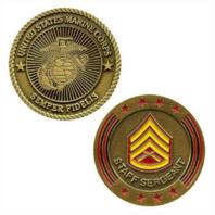 Vanguard MARINE CORPS COIN: STAFF SERGEANT