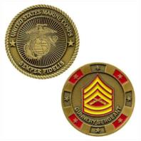 Vanguard MARINE CORPS COIN: GUNNERY SERGEANT