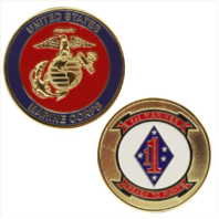 Vanguard MARINE CORPS COIN: 1ST MARINES READY TO FIGHT