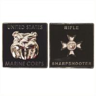 "Vanguard MARINE CORPS COIN: RIFLE SHARPSHOOTER 1.75"""