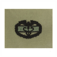 Vanguard ARMY EMBROIDERED BADGE: COMBAT MEDICAL 1ST AWARD EMBROIDERED WITH BLACK THREAD ON ABU