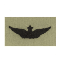 Vanguard ARMY EMBROIDERED BADGE: SENIOR AVIATOR EMBROIDERED WITH BLACK THREAD ON ABU