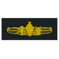 Vanguard NAVY EMBROIDERED BADGE: SPECIAL OPERATIONS OFFICER - COVERALL