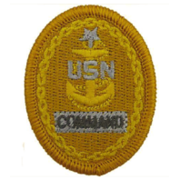 Vanguard NAVY EMBROIDERED BADGE: E8 COMMAND - EMBROIDERED ON COVERALL