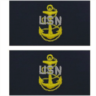 Vanguard NAVY EMBROIDERED COLLAR DEVICE: E7 CPO - EMBROIDERED ON COVERALL