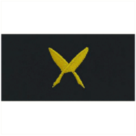 Vanguard NAVY EMBROIDERED COLLAR DEVICE: SHIPS CLERK - EMBROIDERED ON COVERALL
