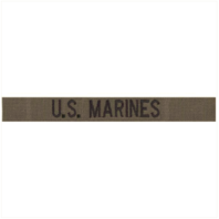 Vanguard U.S. MARINES NAME TAPE: EMBROIDERED ON OLIVE DRAB