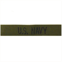 Vanguard NAVY TAPE: U.S. NAVY - BLACK ON OLIVE DRAB