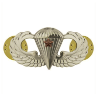 Vanguard ARMY BADGE: COMBAT PARACHUTE FIRST AWARD - MIRROR FINISH