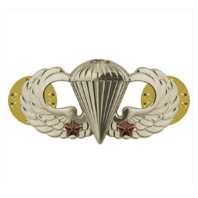 Vanguard ARMY BADGE: COMBAT PARACHUTE SECOND AWARD - MIRROR FINISH