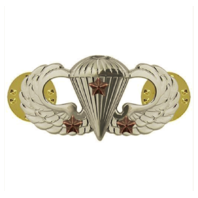 Vanguard ARMY BADGE: COMBAT PARACHUTE THIRD AWARD - MIRROR FINISH