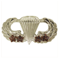 Vanguard ARMY BADGE: BASIC COMBAT PARACHUTE FOURTH AWARD - MIRROR FINISH