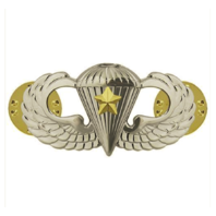 Vanguard ARMY BADGE: COMBAT PARACHUTE FIFTH AWARD - MIRROR FINISH