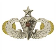 Vanguard ARMY BADGE: SENIOR COMBAT PARACHUTE FIRST AWARD - MIRROR FINISH