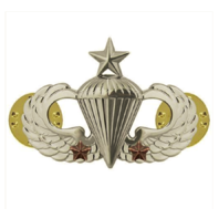 Vanguard ARMY BADGE: SENIOR COMBAT PARACHUTE SECOND AWARD - MIRROR FINISH