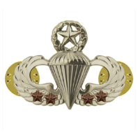 Vanguard ARMY BADGE: MASTER COMBAT PARACHUTE FOURTH AWARD - MIRROR FINISH