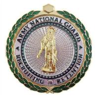 Vanguard ARMY ID BADGE: ARNG RECRUITING AND RETENTION: SENIOR - MIRROR FINISH