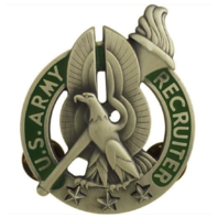 Vanguard ARMY IDENTIFICATION BADGE: RECRUITER - SILVER