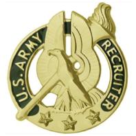 Vanguard ARMY IDENTIFICATION BADGE: RECRUITER - GOLD