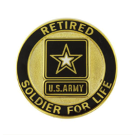 Vanguard ARMY IDENTIFICATION BADGE: SOLDIER FOR LIFE - RETIRED