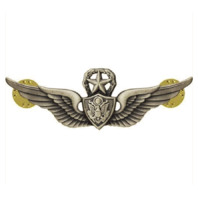 Vanguard ARMY BADGE: MASTER AIRCRAFT CREWMAN: AIRCREW - SILVER OXIDIZED