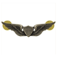 Vanguard ARMY BADGE: AVIATOR - REGULATION SIZE, SILVER OXIDIZED