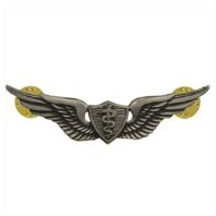 Vanguard ARMY BADGE: FLIGHT SURGEON - REGULATION SIZE, SILVER OXIDIZED