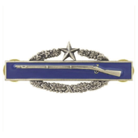 Vanguard ARMY BADGE: COMBAT INFANTRY SECOND AWARD - SILVER OXIDIZED