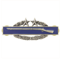 Vanguard ARMY BADGE: COMBAT INFANTRY THIRD AWARD - SILVER OXIDIZED