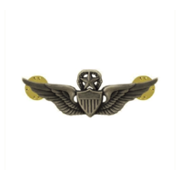 Vanguard ARMY DRESS BADGE: MASTER AVIATOR - MINIATURE, SILVER OXIDIZED