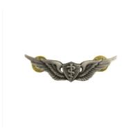 Vanguard ARMY DRESS BADGE: FLIGHT SURGEON - MINIATURE, SILVER OXIDIZED