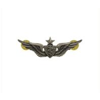 Vanguard ARMY DRESS BADGE: SENIOR FLIGHT SURGEON - MINIATURE, SILVER OXIDIZED