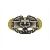 Vanguard ARMY DRESS BADGE: COMBAT MEDICAL FIRST AWARD - MINIATURE, SILVER OXIDIZED