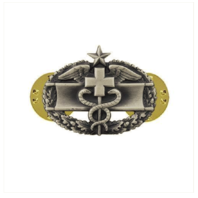 Vanguard ARMY DRESS BADGE: COMBAT MEDICAL SECOND AWARD MINIATURE SILVER OXIDIZED