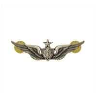 Vanguard ARMY BADGE: SENIOR AIRCRAFT CREWMAN: AIRCREW MINIATURE, SILVER OXIDIZED