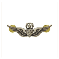 Vanguard ARMY BADGE: MASTER AIRCRAFT CREWMAN: AIRCREW MINIATURE, SILVER OXIDIZED