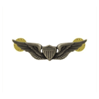 "Vanguard ARMY BADGE: AVIATOR - 2"" BLOUSE MINIATURE, SILVER OXIDIZED"