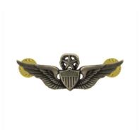 "Vanguard ARMY BADGE: MASTER AVIATOR - 2"" BLOUSE MINIATURE, SILVER OXIDIZED"