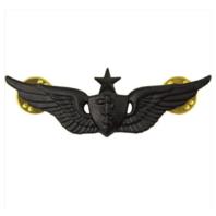 Vanguard ARMY BADGE: SENIOR FLIGHT SURGEON - REGULATION SIZE, BLACK METAL