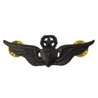 Vanguard ARMY BADGE: MASTER FLIGHT SURGEON - REGULATION SIZE, BLACK METAL