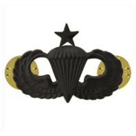 Vanguard ARMY BADGE: SENIOR PARACHUTE - REGULATION SIZE, BLACK METAL