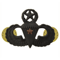 Vanguard ARMY BADGE: MASTER COMBAT PARACHUTE FIRST AWARD - BLACK METAL