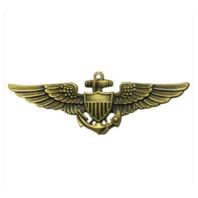 Vanguard NAVY BADGE: AVIATOR - REGULATION SIZE, ANTIQUE GOLD