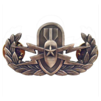 Vanguard NAVY BADGE SENIOR EXPLOSIVE ORDNANCE DISPOSAL - REGULATION, OXIDIZED