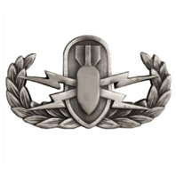 Vanguard BADGE EXPLOSIVE ORDNANCE DISPOSAL - REGULATION, OXIDIZED