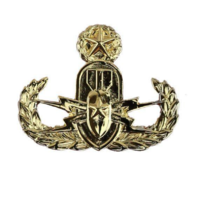 Vanguard NAVY BADGE EXPLOSIVE ORDNANCE DISPOSAL OFFICER - MINIATURE, MIRROR FINISH