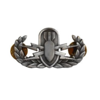 Vanguard BADGE: EXPLOSIVE ORDNANCE DISPOSAL - MINIATURE, OXIDIZED